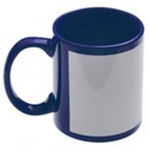 Кружка для сублимации синяя с белым полем под нанесение